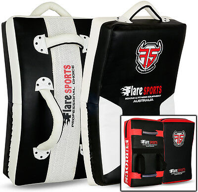 Flare Muay Thai Kick Boxing Arm Pad Focus MMA Punch Shield Curved Strike UFC