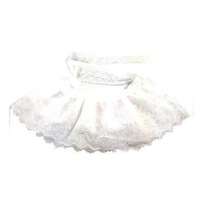 Vintage Lady White Lace Detached Separate Fake Collar Double Shawl