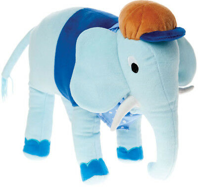 Blue Elephant Shaped Cushion by Hiccups