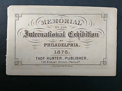 1876 Centennial Exposition View Booklet by Hunter ~ NO COVER