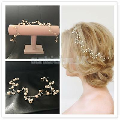 Handmade Pearl Wedding Bridal Headband Hair Pieces Tiara Party Accessories