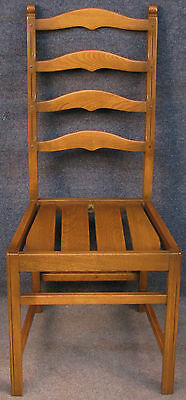 Ercol Solid Elm Old Colonial 715 Golden Dawn Ladder Back Kitchen / Dining Chair