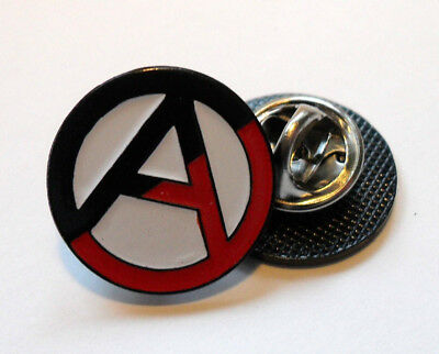 Red/black Anarchy Pin (Mba 348)