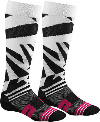 Thor Moto Knit Dazz Black/White/Pink Socks