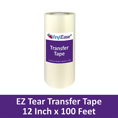 12 in X 100 ft Roll Clear TEAR AWAY Transfer Tape for Sign Craft Vinyl V0825