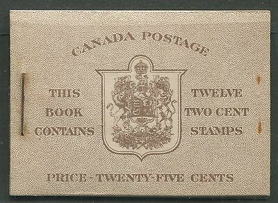 CANADA COMPLETE BOOKLET BK33a MINT VF NH
