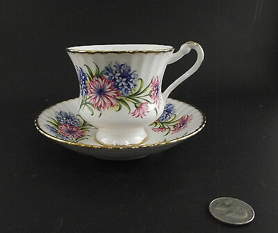 Paragon White Floral Antique Cabinet Tea Cup And Saucer