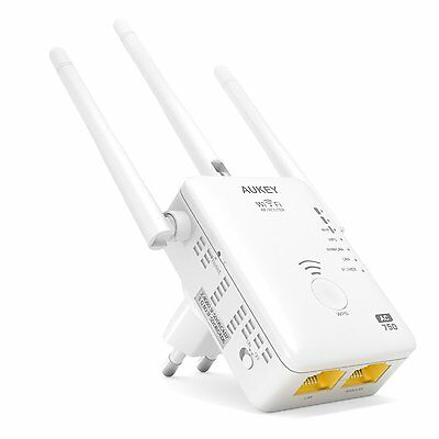 AUKEY Ripetitore Wi-Fi Dual Band 750Mbps 802.11ac 3 Antenne