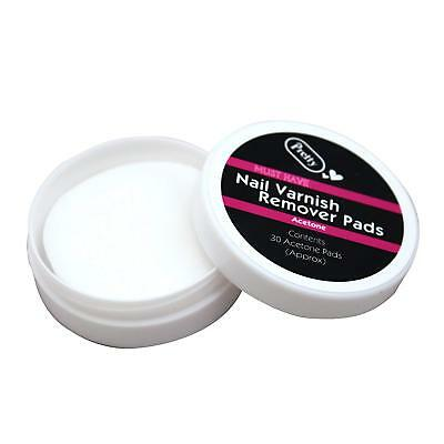 Pretty NAIL VARNISH REMOVER PADS 1 PACK OF 30 PADS