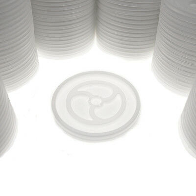 1,000ct Wincup Vented White Disposable Plastic L6V Lids For 10oz Styrofoam Cups