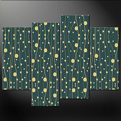 Abstract Art Deco Quality Cascade Canvas Print Picture Ready To Hang