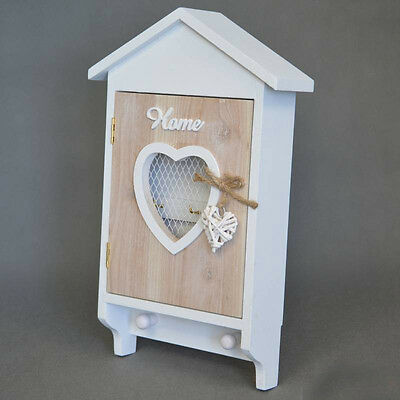 SHABBY CHIC wooden KEY BOX STORAGE HOLDER COUNTRY FRENCH HOME NEW