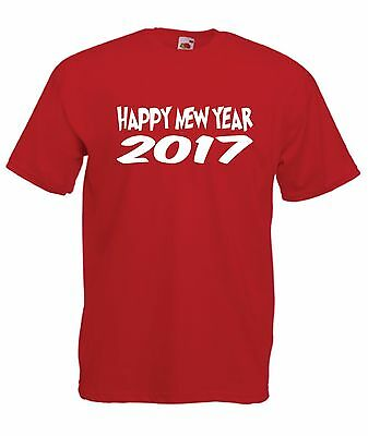 HAPPY NEW YEAR 2017 funny xmas christmas party gift present mens womens T SHIRT