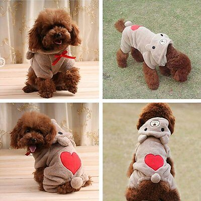 New Dog Outfits-Cute Bear Costume Jumpsuit Hoodie Clothes Apparel for Dog Pet us