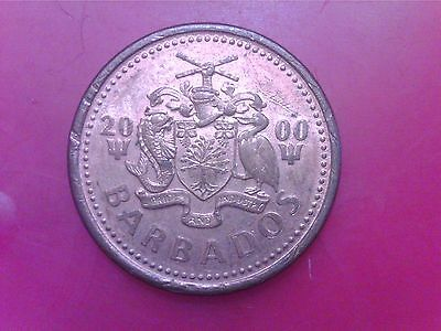 Barbados    One Cent  2000