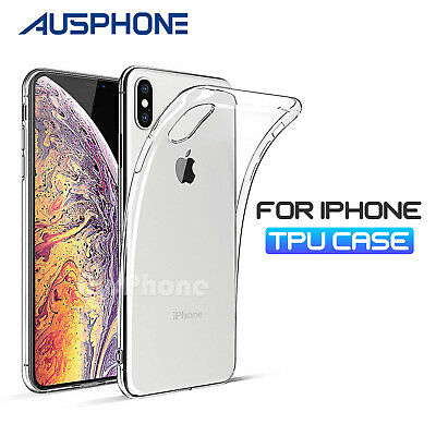 iPhone 8 7 XS Max XR Crystal Clear Slim Soft Gel Shockproof Case Cover for Apple