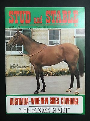 Stud & Stable Race Horse Magazine June 1976