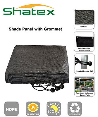 Shatex 90% UP UV Block Shade Cloth Shade Panel Taped Edge W/Gromment 8X10FT