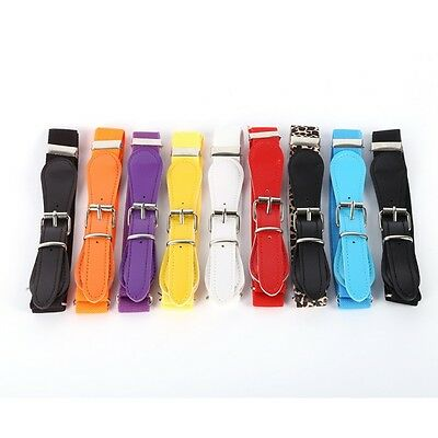 Infant Baby Candy Color Waist Belt Buckle PU Leather Child Girls Boys Waistband