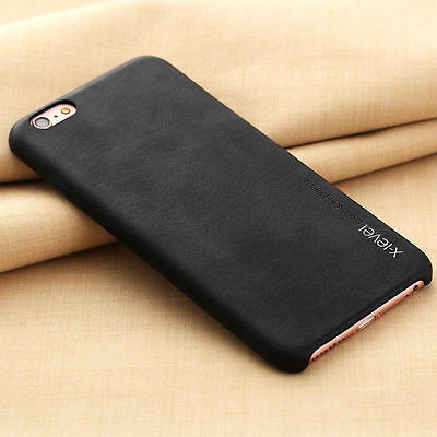 Genuine HandMade ultra-thin Leather Hard Back Case Cover For Apple iPhone Models