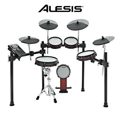Alesis Crimson Mesh Head 5pce Electronic Drum Kit  Drumset with cymbals
