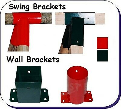 Pair (2) or single SWING CORNER BRACKETS Round or Square WOODEN CLIMBING FRAME
