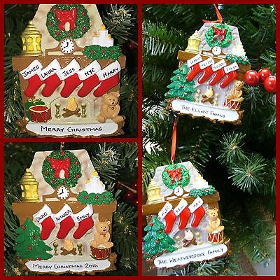Personalised Christmas Tree Decoration/ornament Fireplace Stockings 3-5 Names