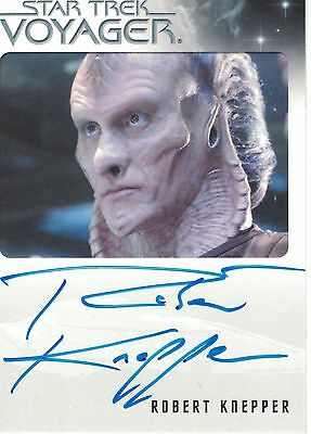 Star Trek Voyager Heroes & Villains (2015): Robert Knepper autograph