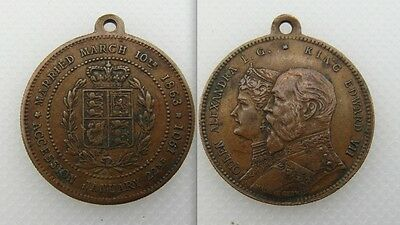 1901 - King Edward VII & Queen Alexandra, Commemorative Medal - Made In Germany