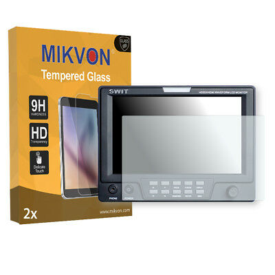 2x Mikvon Tempered Glass 9H for Blackmagic Swit M-1071F Screen Protector