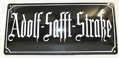Iron Enamel sign street sign german Von Sprewitz-Str. arched, very old