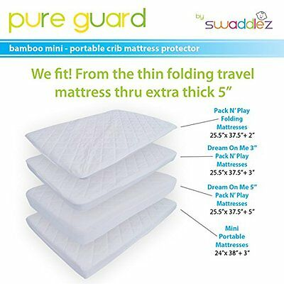 NEW Original Pack N Play Crib Mattress Pad Cover Fits Pack and Play By Swaddlez