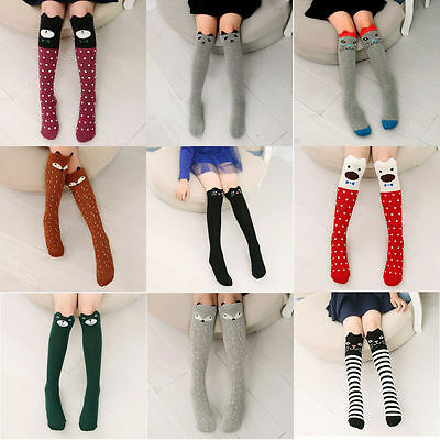 Baby Kids Toddlers Girls Knee High Sock Tights Leg Warmer Stockings For Age 3-12