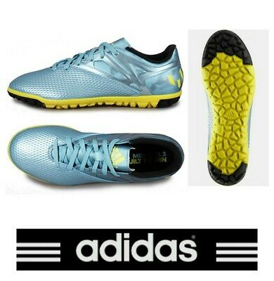 adidas Messi 15.3 Astro Turf Mens Football Trainers Met Blue Soccer TF Boots NEW