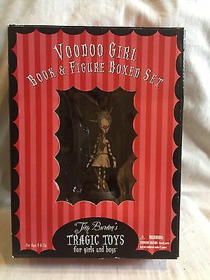 very rare FREE POST boxed new TIM BURTON TRAGIC TOYS VOODOO GIRL book & figure