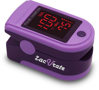 Zacurate® Purple 500DL Pro Series Pulse Oximeter Heart Rate Monitor Spo2 O2