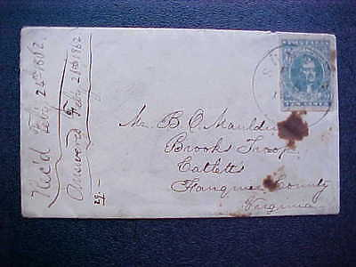Confederate: South Carolina, Sumpter 1862 CSA #2 cover, Military Address