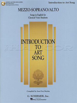 Introduction to Art Song Mezzo-Soprano/Alto Vocal Sheet Music Book with Audio