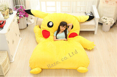 Single Bed Filled Pikachu Bed Carpet Tatami Mattress Sofa Great Cute Gift