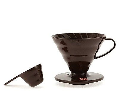 Hario Coffee Dripper V60 VD-02CBR Brown for 1~4 Cups with Spoon New Japan