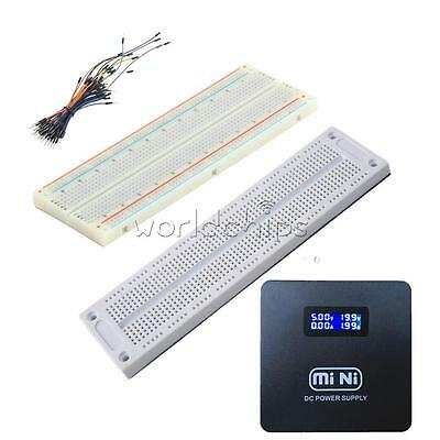 Prototype Breadboard 700/830 Tie-points MB102 SYB 120 Jumper Cables Wire W