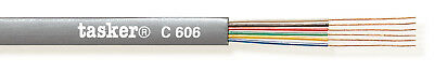 Tasker C606 GRY Telephone cable 6x0,08 mm² 305 m