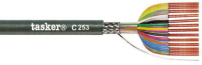 Tasker C253 Braided shielded LiYCY cable 25x0,14 mm² 100 m