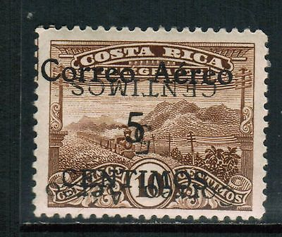 Costa Rica Airmail 1930-32 Sc#C3, Error-Double Overprint,Inverted MH  cp1