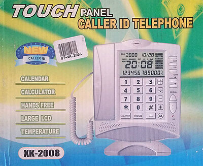 NEW Wall Desk Corded HOME TELEPHONE Landline with LCD Caller ID
