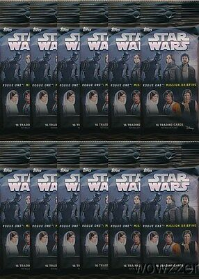 (12) 2016 Topps Star Wars Rogue One Mission Briefing JUMBO FAT Packs-216 Cards !