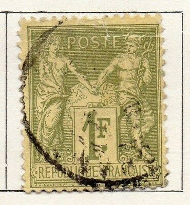 France 1876 Early Issue Fine Used 1F. 092616