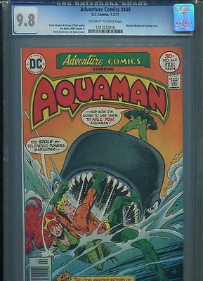 Adventure Comics #449 Cgc Mt 9.8 Imossible In Grade Aquaman Wow!!