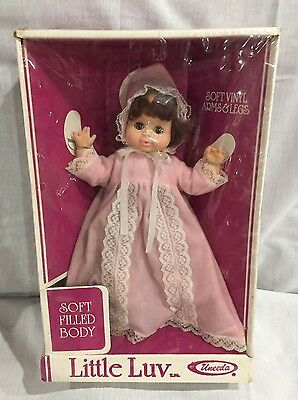 Vtg Old Little Luv Love Uneeda Baby Doll Style 31480 Soft Vinyl Arms Legs Nos !