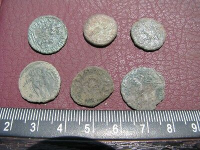 6 HQ Ancient Roman coins + 4 oz. Mint State Restoration Coin Cleaner MSR 077